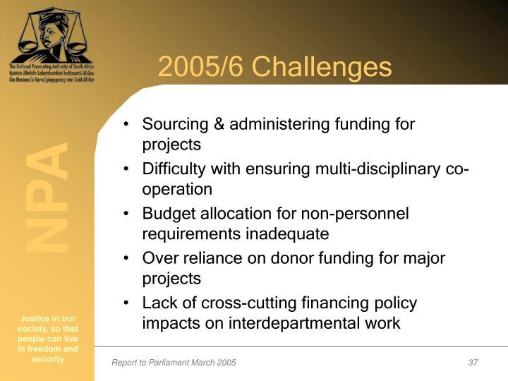 2005/6 Challenges