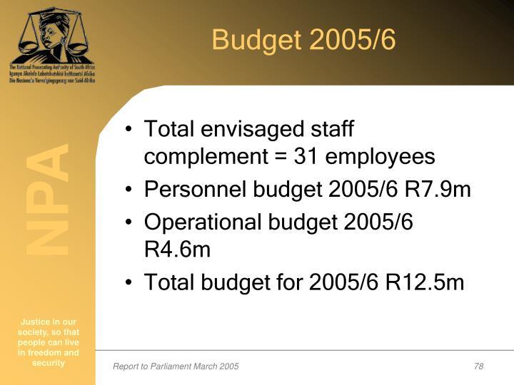 Budget 2005/6