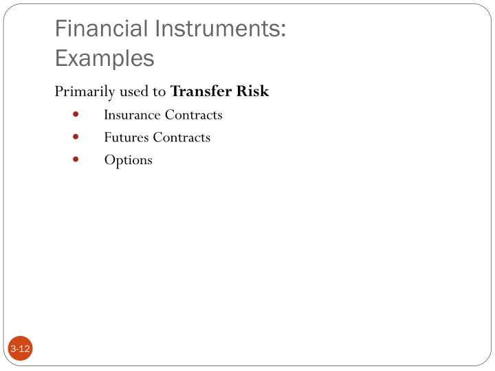 Financial Instruments: