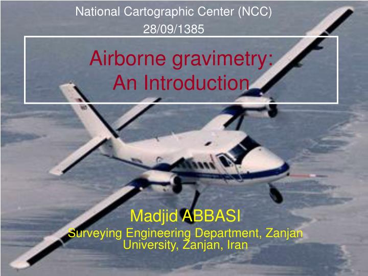 airborne gravimetry an introduction n.