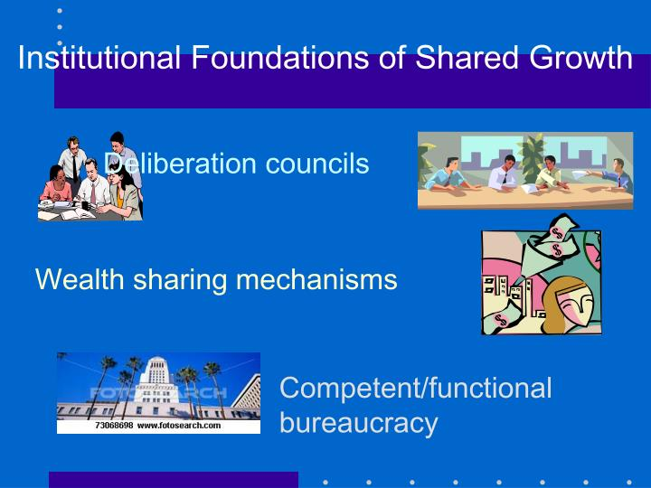 Institutional Foundations of Shared Growth