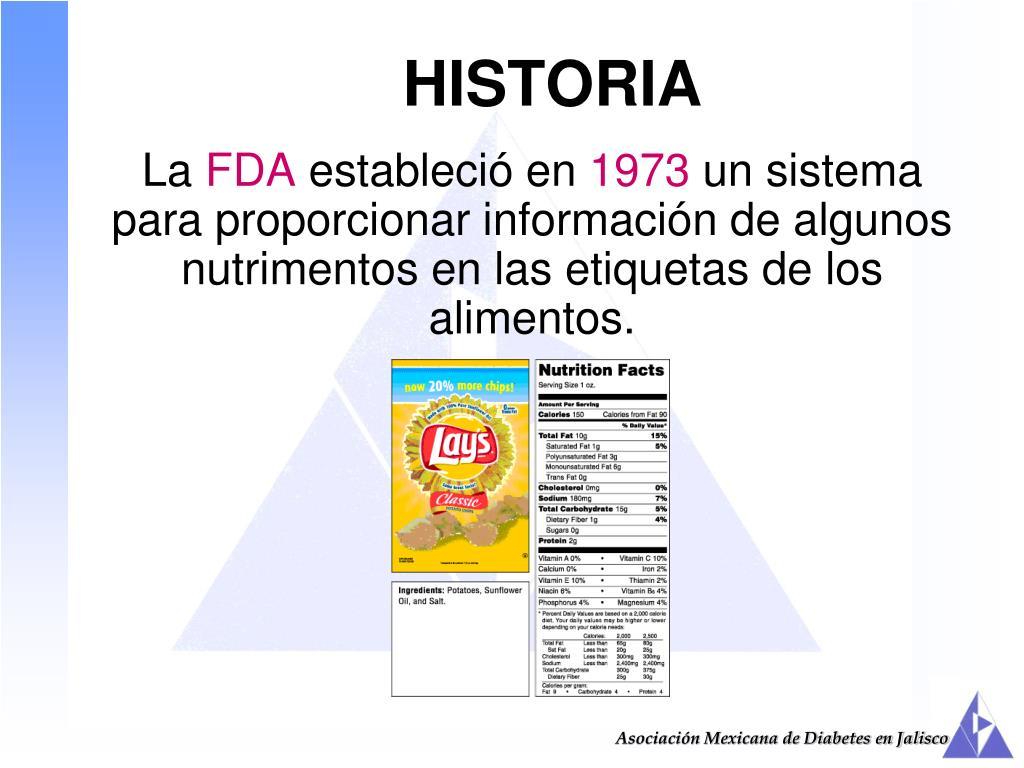 etiqueta de información nutricional asociación de diabetes