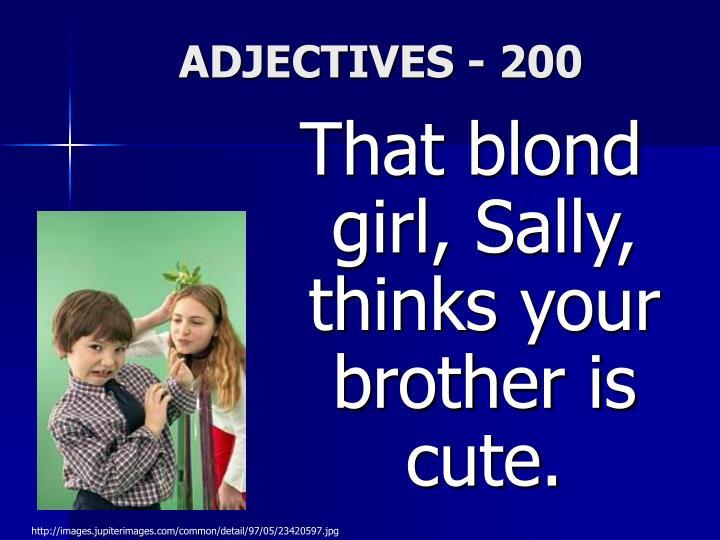 ADJECTIVES - 200
