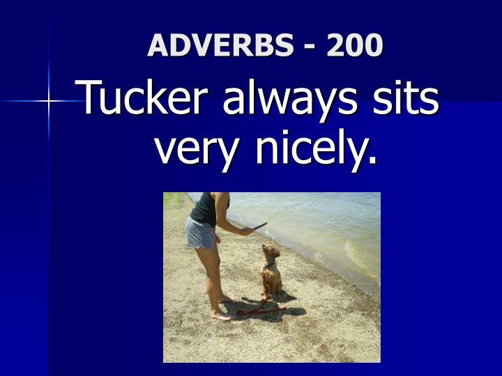 ADVERBS - 200