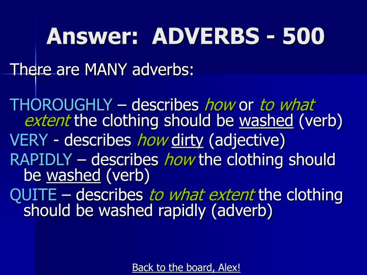 Answer:  ADVERBS - 500