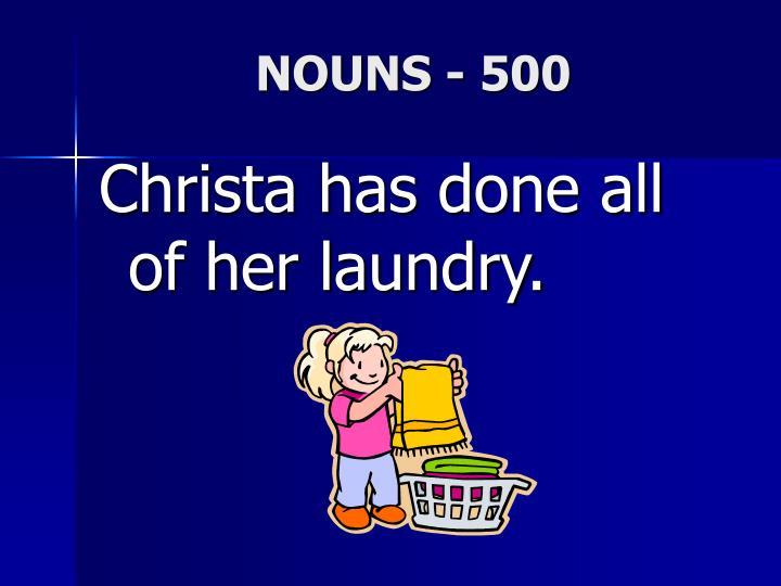 NOUNS - 500