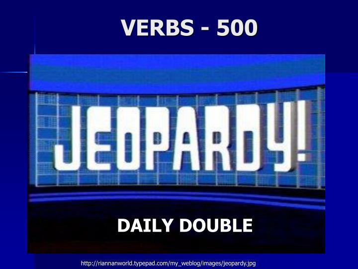 VERBS - 500