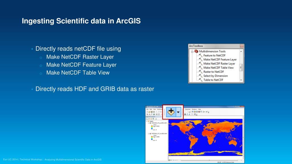 PPT - Analyzing Multidimensional Scientific Data in ArcGIS