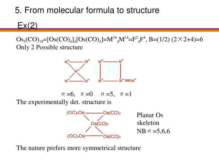 5. From molecular formula to structure