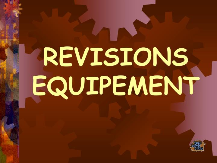 revisions equipement n.