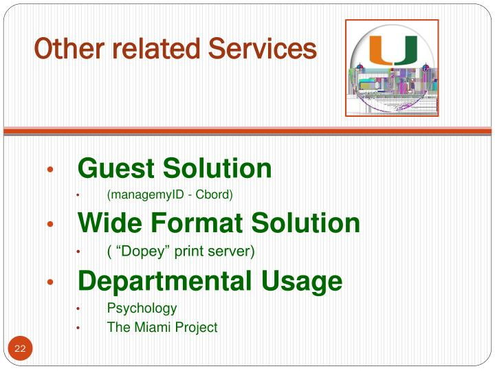 Other related Services