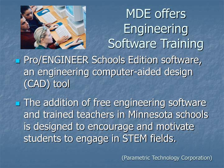 MDE offers Engineering Software Training