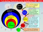 calculating emissions to be included in crc ees