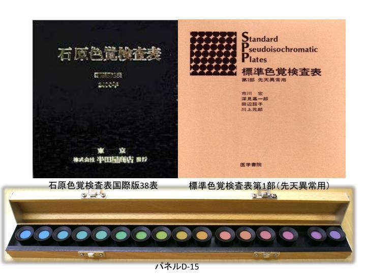 石原色覚検査表国際版