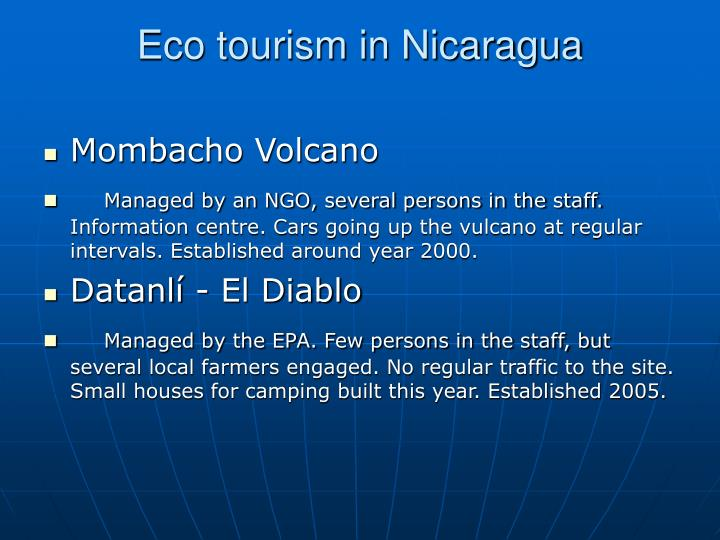 Eco tourism in Nicaragua