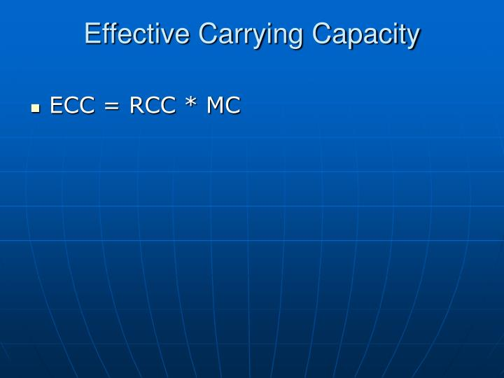 Effective Carrying Capacity