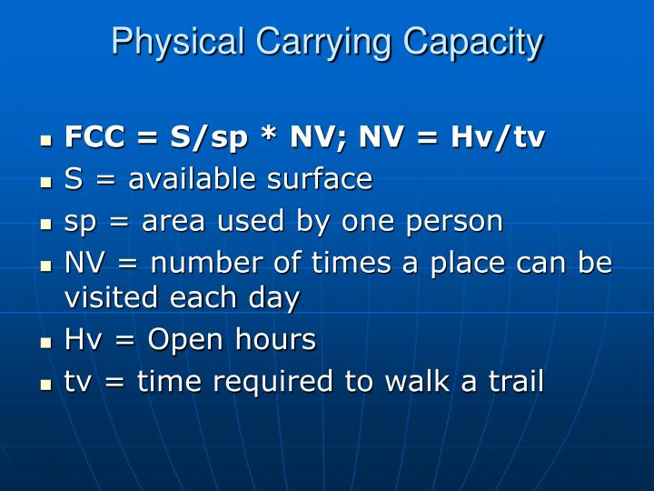 Physical Carrying Capacity