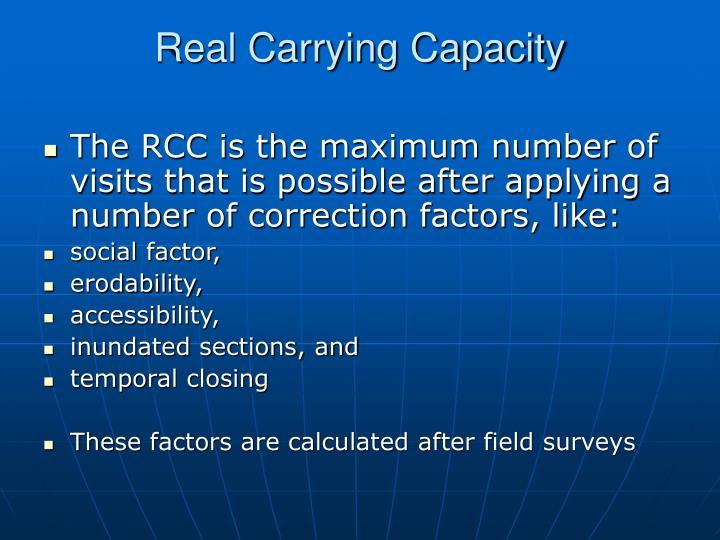 Real Carrying Capacity