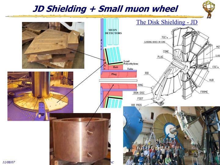 JD Shielding + Small muon wheel