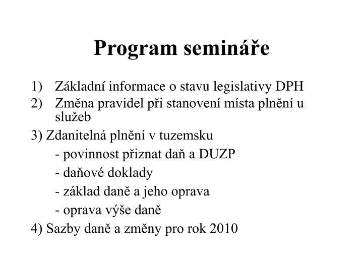 Program semin e