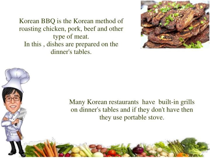 Many Korean restaurants  have  built-in grills on dinner's tables and if they don't have then they u...