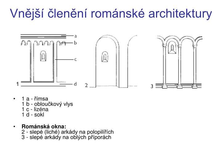Vnější členění románské architektury