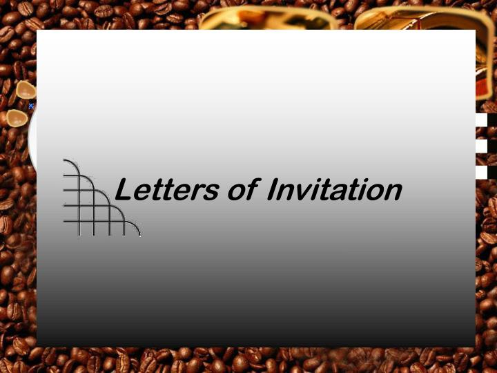 letters of invitation n.