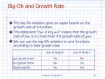 big oh and growth rate