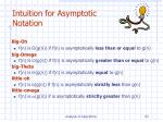 intuition for asymptotic notation