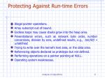 protecting against run time errors
