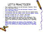 let s practice