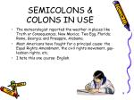 semicolons colons in use