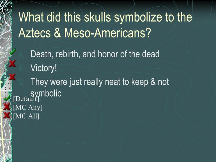 What did this skulls symbolize to the Aztecs & Meso-Americans?