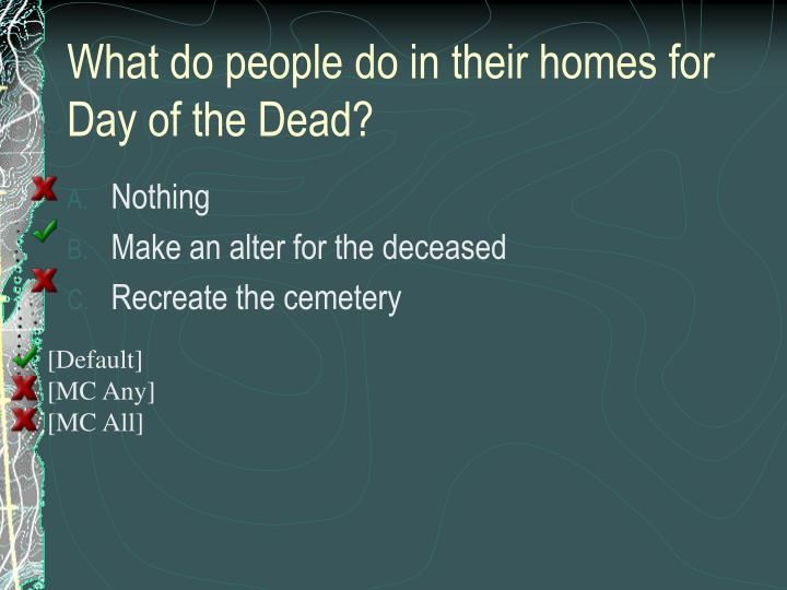 What do people do in their homes for Day of the Dead?
