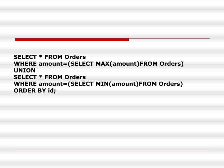 SELECT * FROM Orders