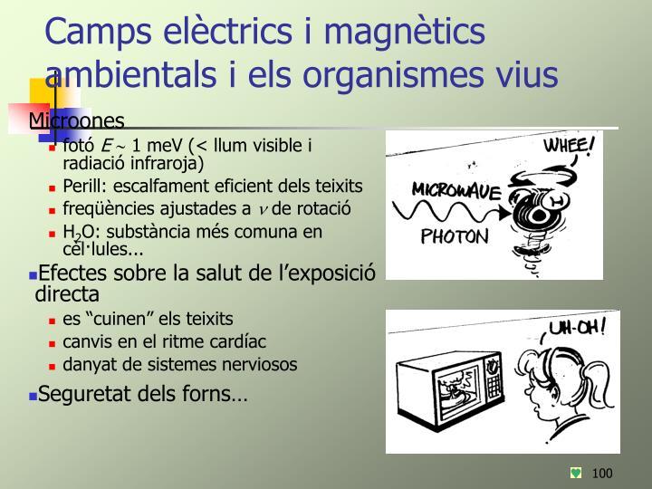 Camps elèctrics i magnètics ambientals i els organismes vius