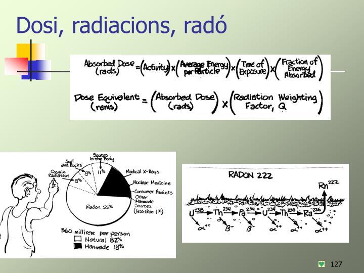 Dosi, radiacions, radó