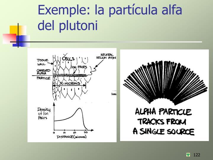 Exemple: la partícula alfa del plutoni