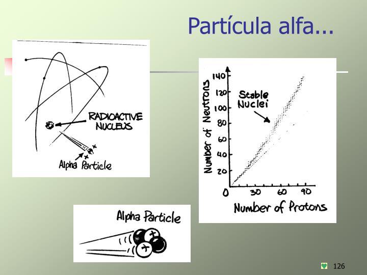 Partícula alfa...