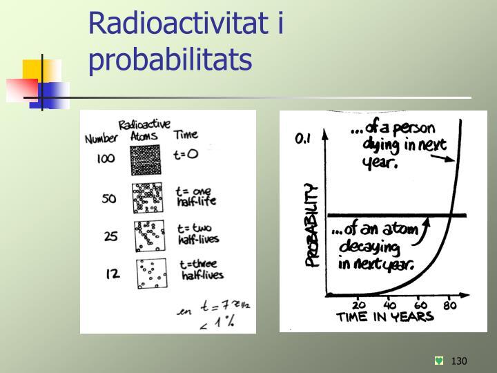 Radioactivitat i probabilitats