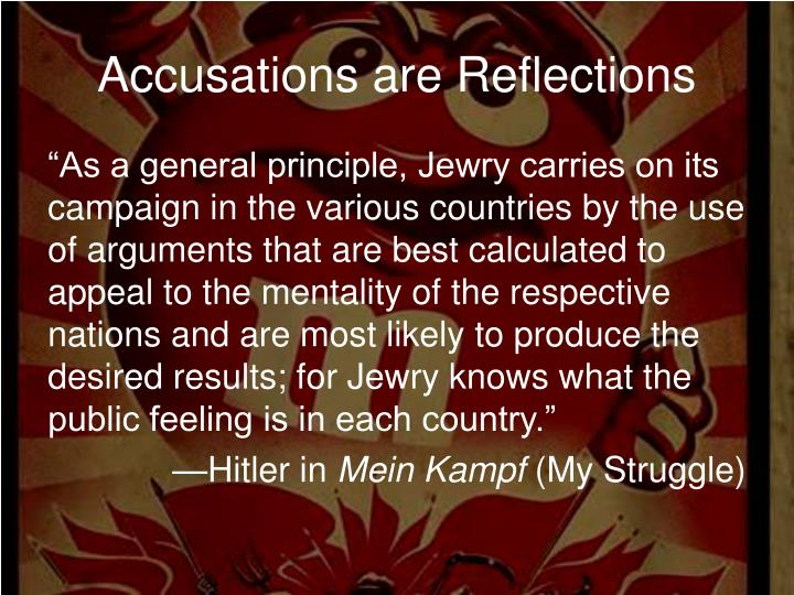 Accusations are Reflections