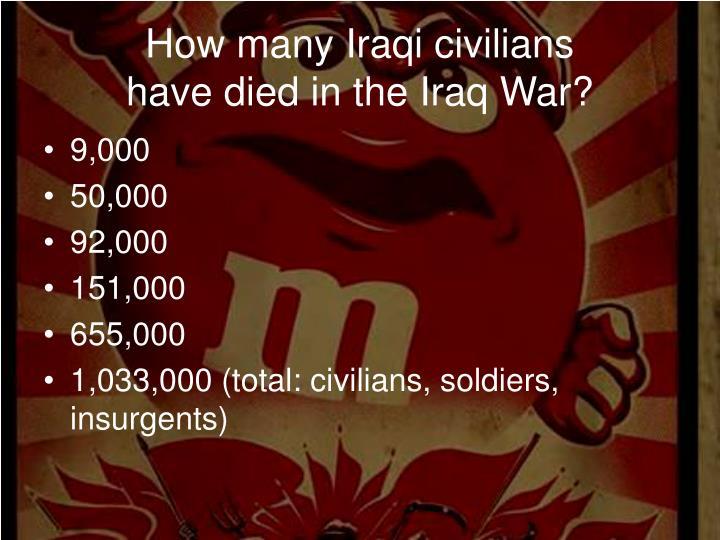 How many Iraqi civilians