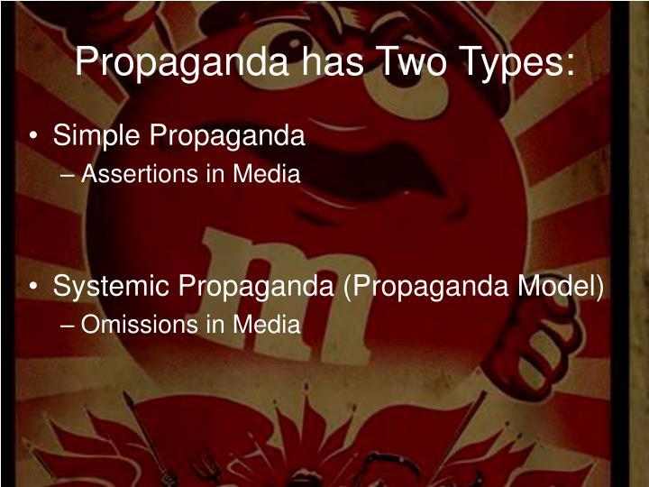 Propaganda has two types1