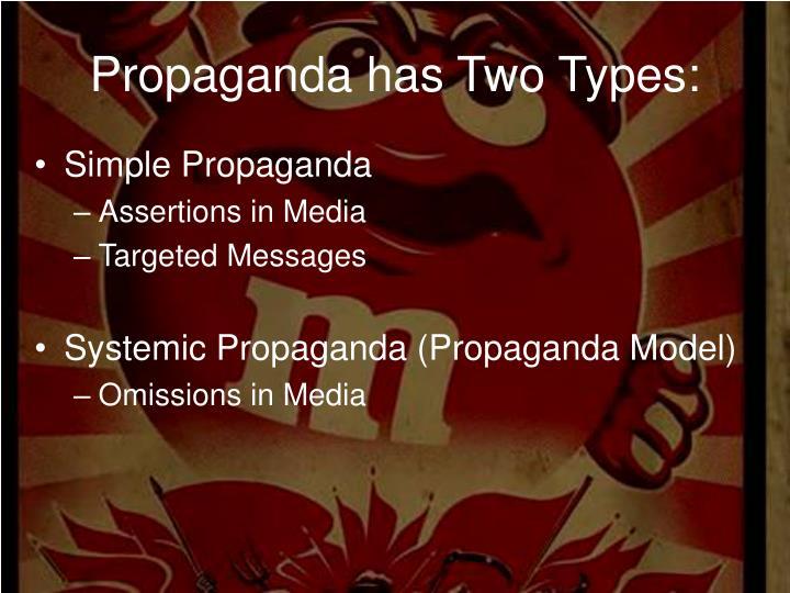 Propaganda has Two Types:
