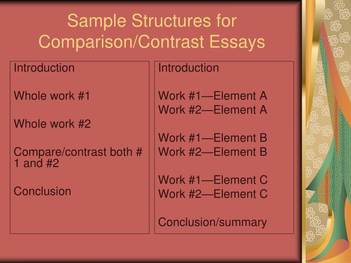 compare 2 essays