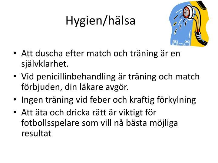 Hygien/hälsa