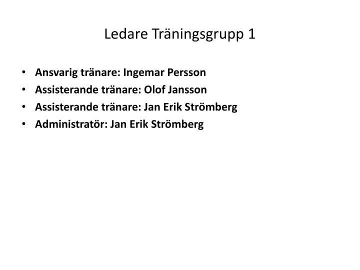 Ledare Träningsgrupp 1