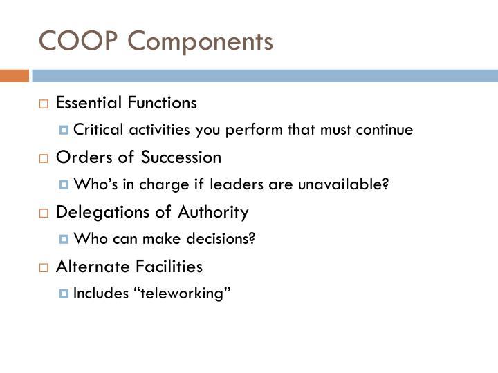 COOP Components