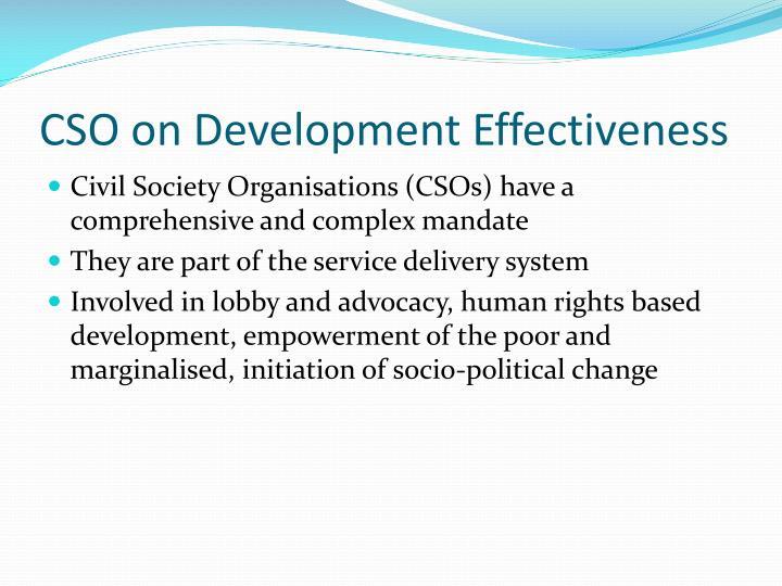 Cso on development effectiveness