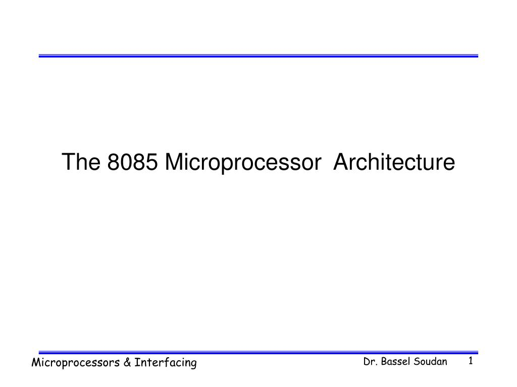 Ppt The 8085 Microprocessor Architecture Powerpoint Presentation Logic Diagram Of N